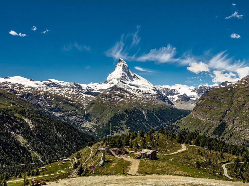Matterhorn w Alpach Szwajcarskich